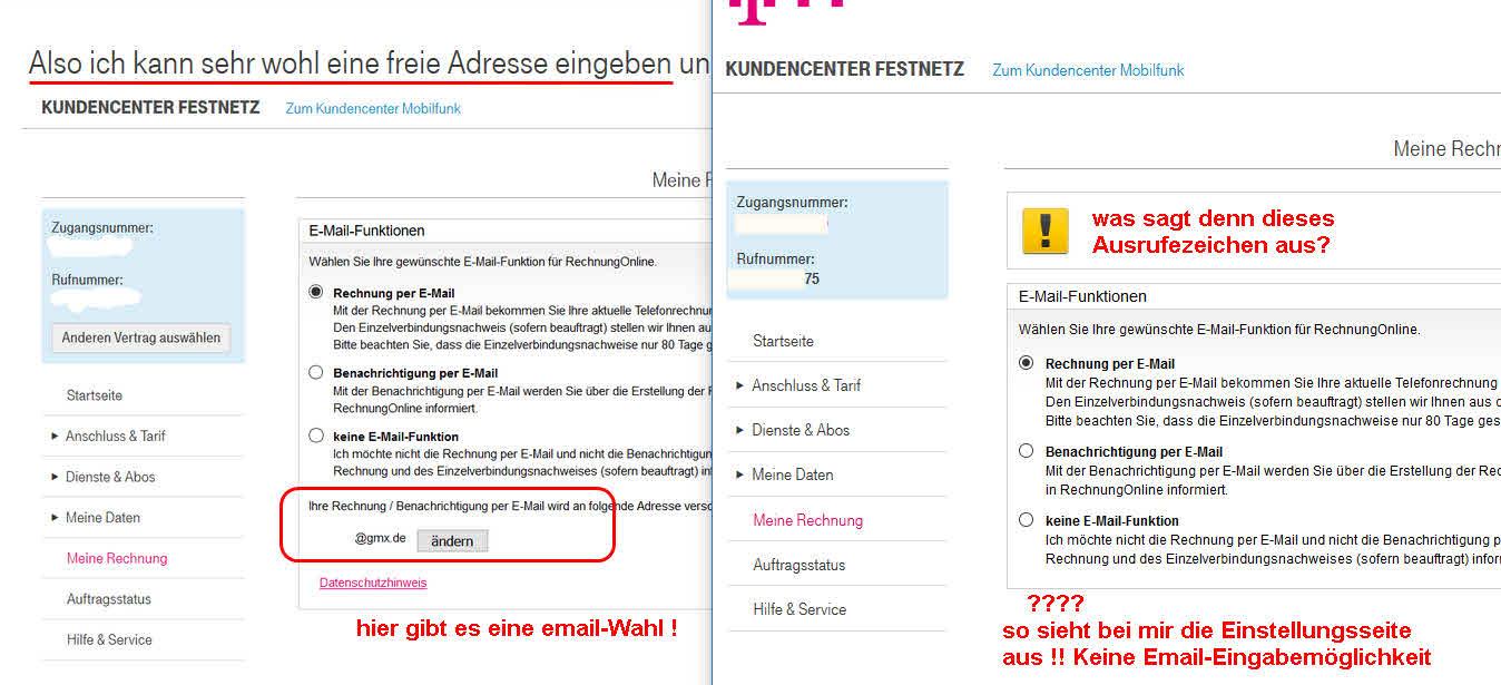 Gelöst Community Rechnung Per Email Telekom Hilft Community