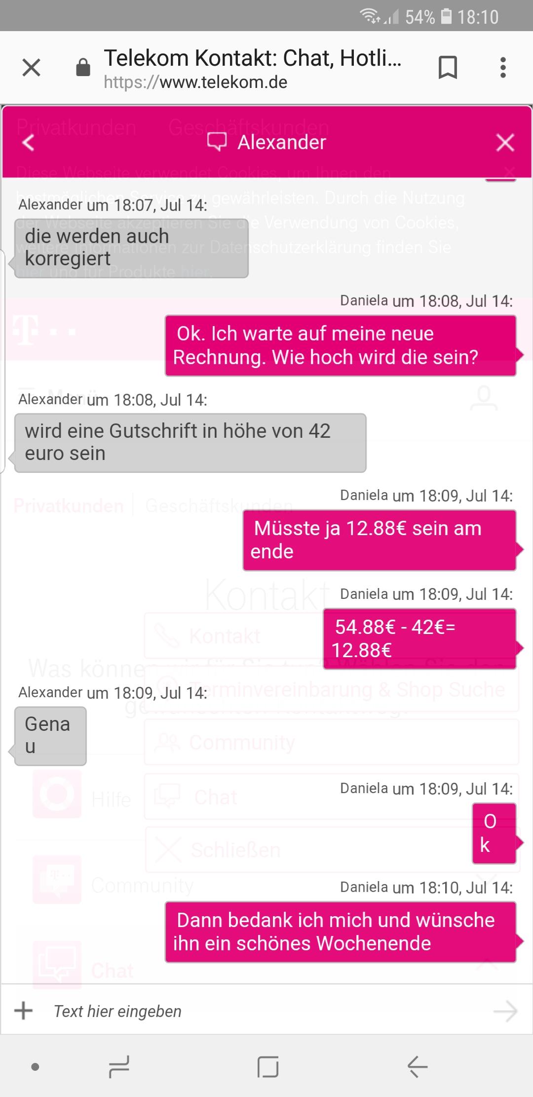 Community Rechnung Inkasso Telekom Hilft Community