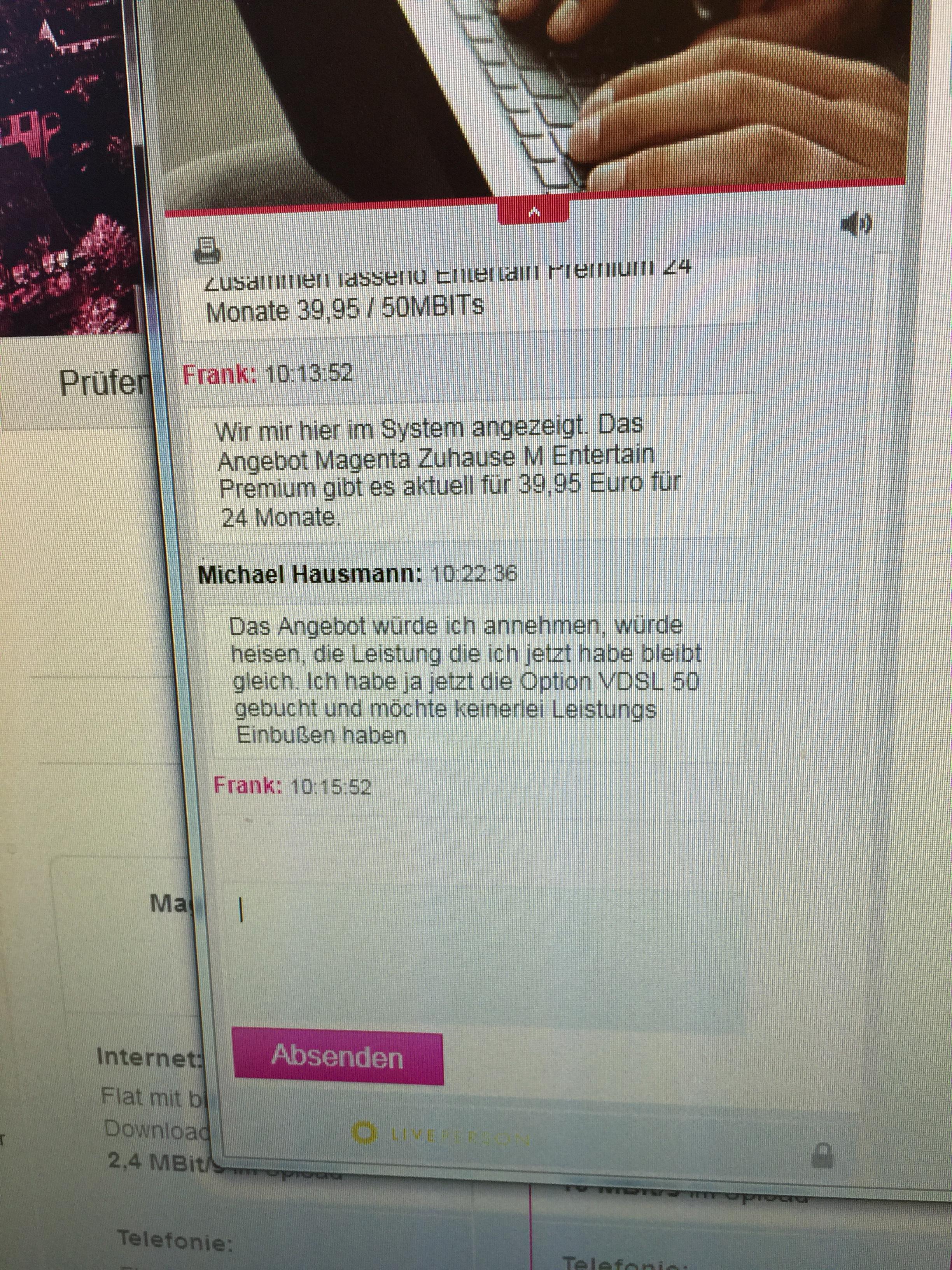 Community Falsche Versprechungen Seitens Der Telekom Bei Ver