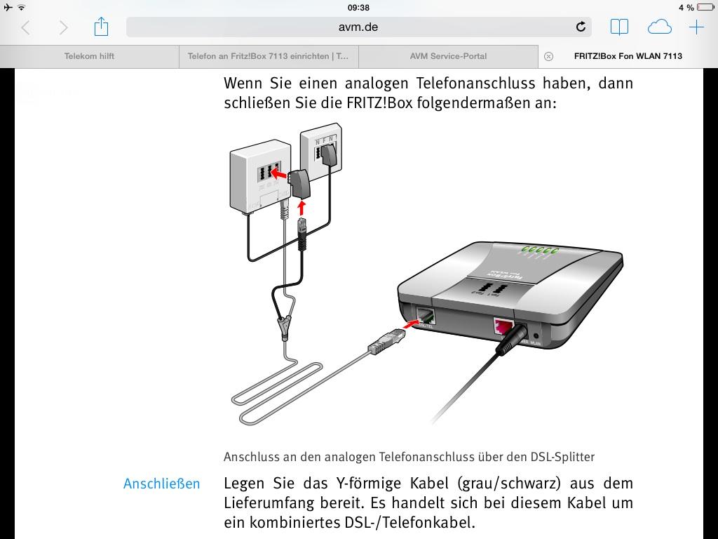 Re Telefon An Fritzbox 7113 Einrichten Telekom Hilft Community