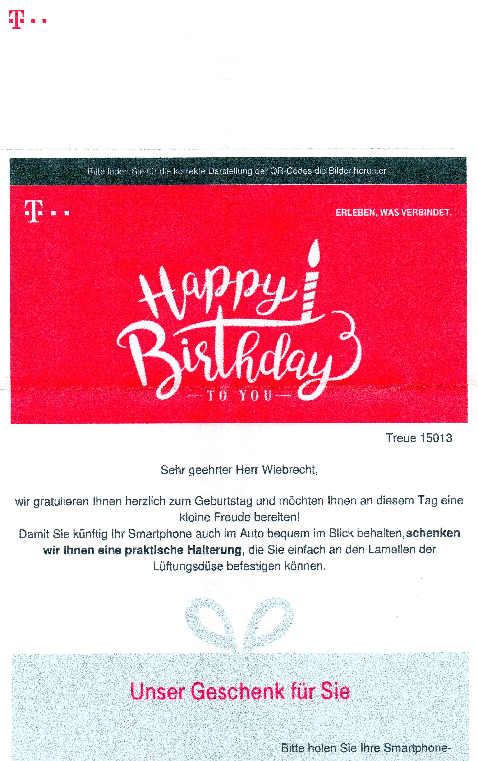 Gelost Community Geburtstagsgeschenk Einlosen Seite 3 Telekom
