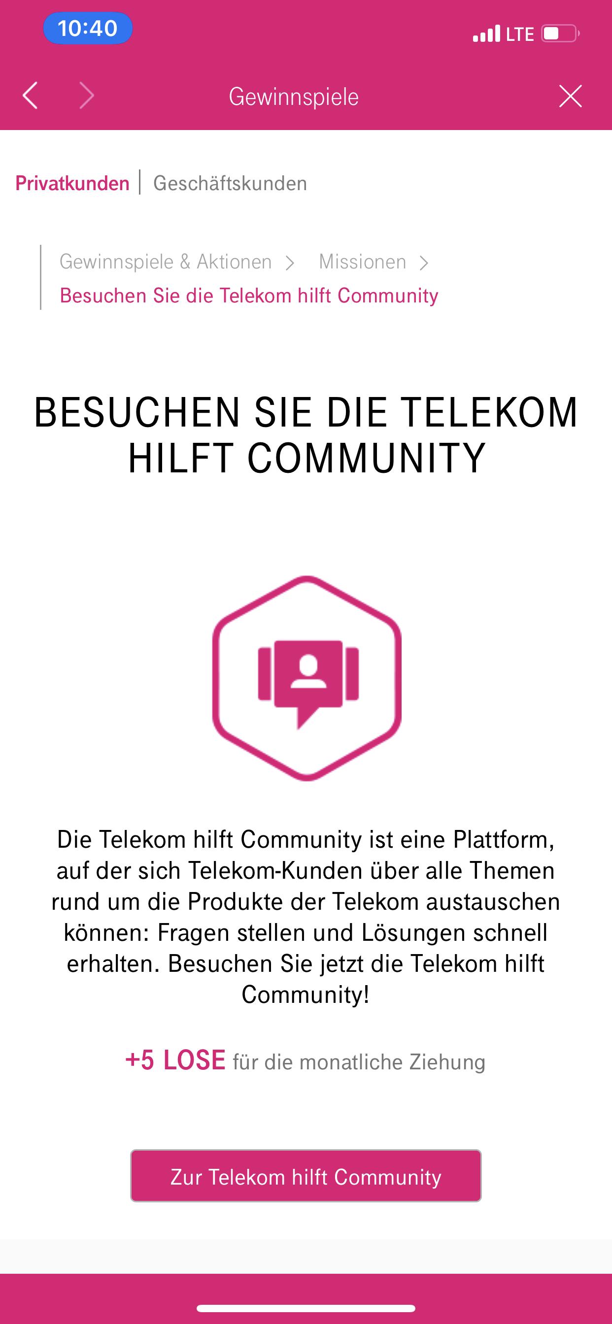 Telekom Gewinnspiele