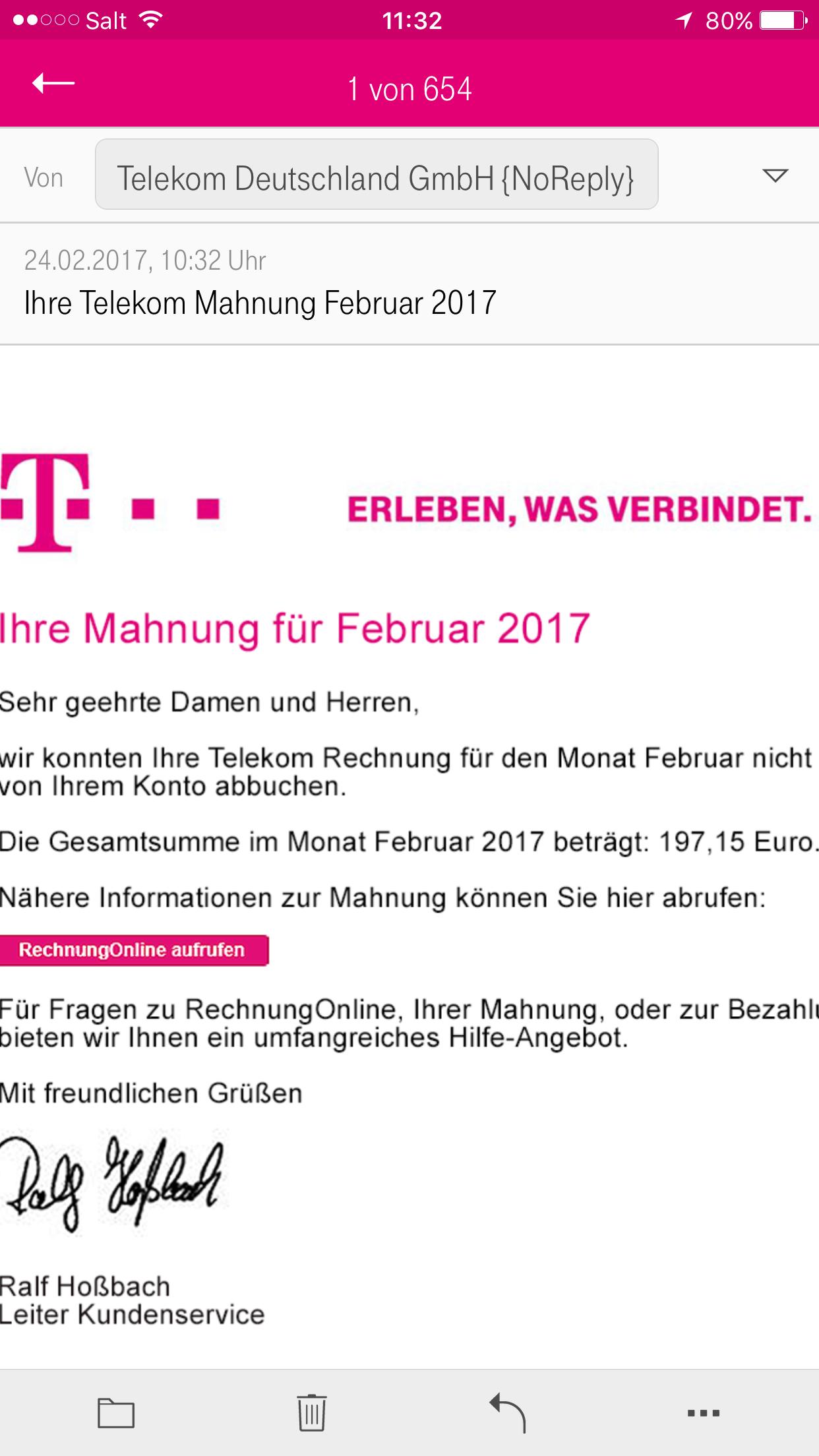 Gelöst Community Betrüger Email Telekom Hilft Community