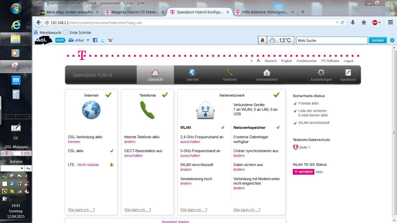 Telekom Karte Aktivieren.Freischaltung Der Simkarte Fur Speedport Hybrid Telekom