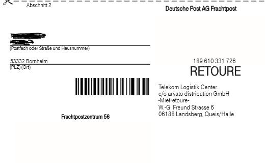 1 barcode f r postversand fehlt telekom hilft community. Black Bedroom Furniture Sets. Home Design Ideas