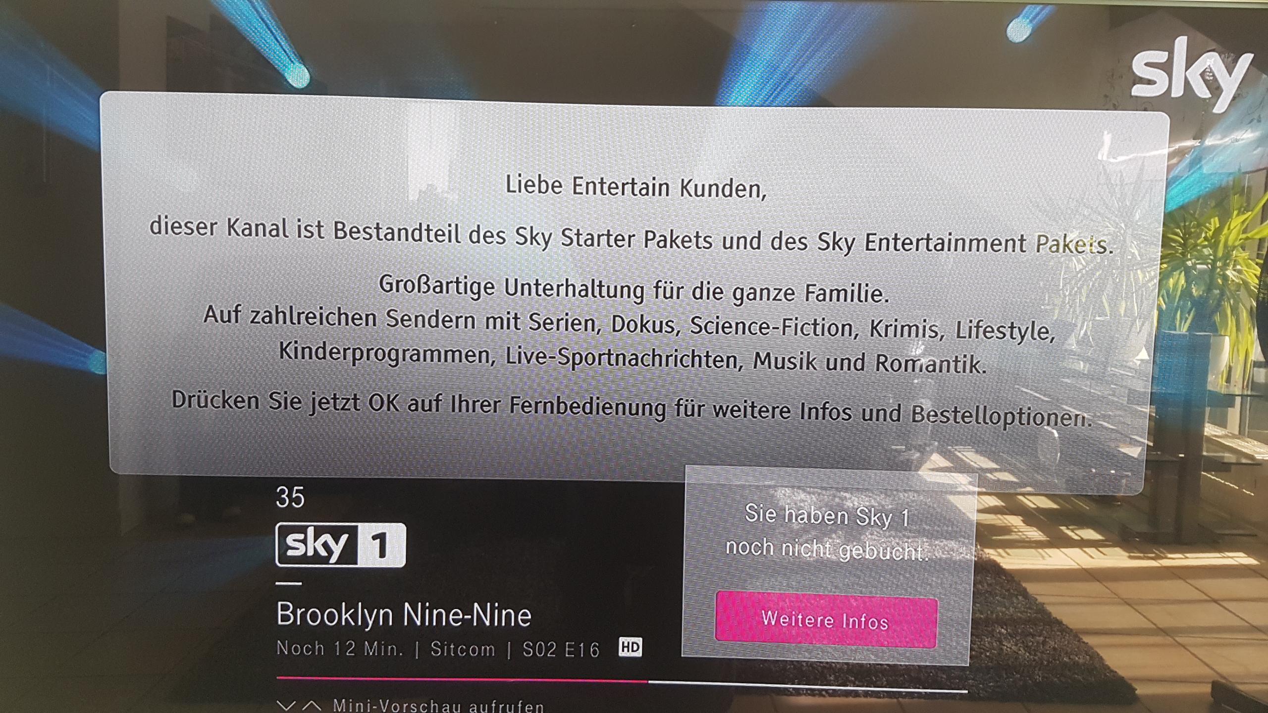 Gelöst Community Freischaltung Sky Via Entertain Telekom Hilft