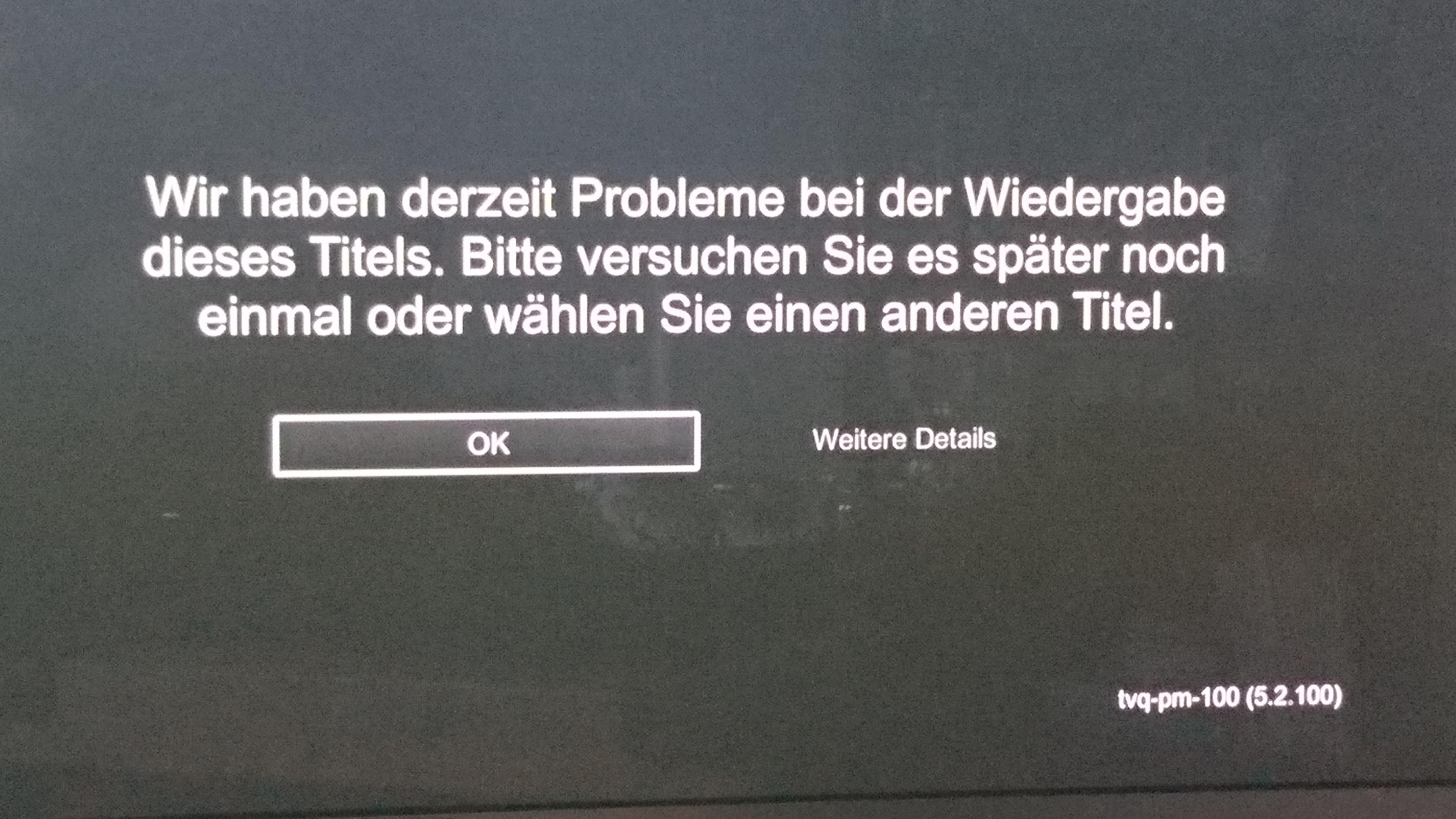 Community Aw Netflix Fehlermeldung Mit Mr 401 Tvq Pm 100 5
