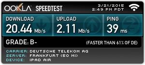 Telekom Upload Geschwindigkeit