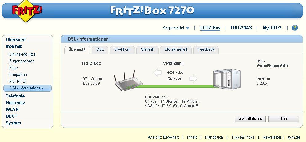 fritzbox kein dsl