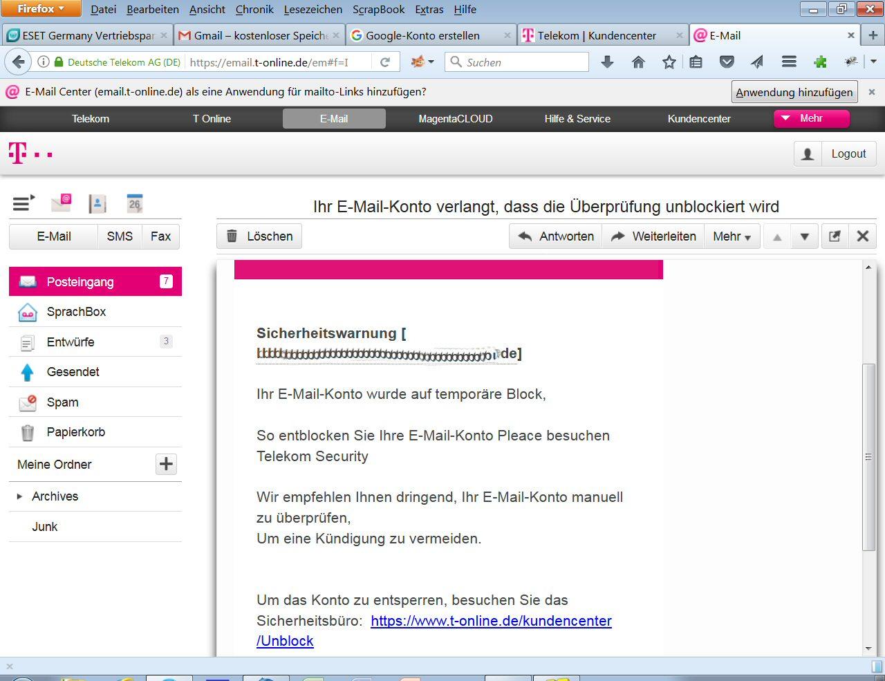 T-Online Phishing