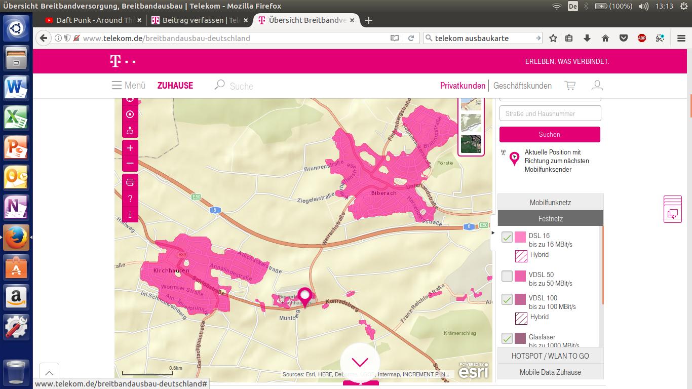 telekom breitbandausbau karte Gelöst: Community | Breitbandausbau 74078 Kirchhausen und Biberach