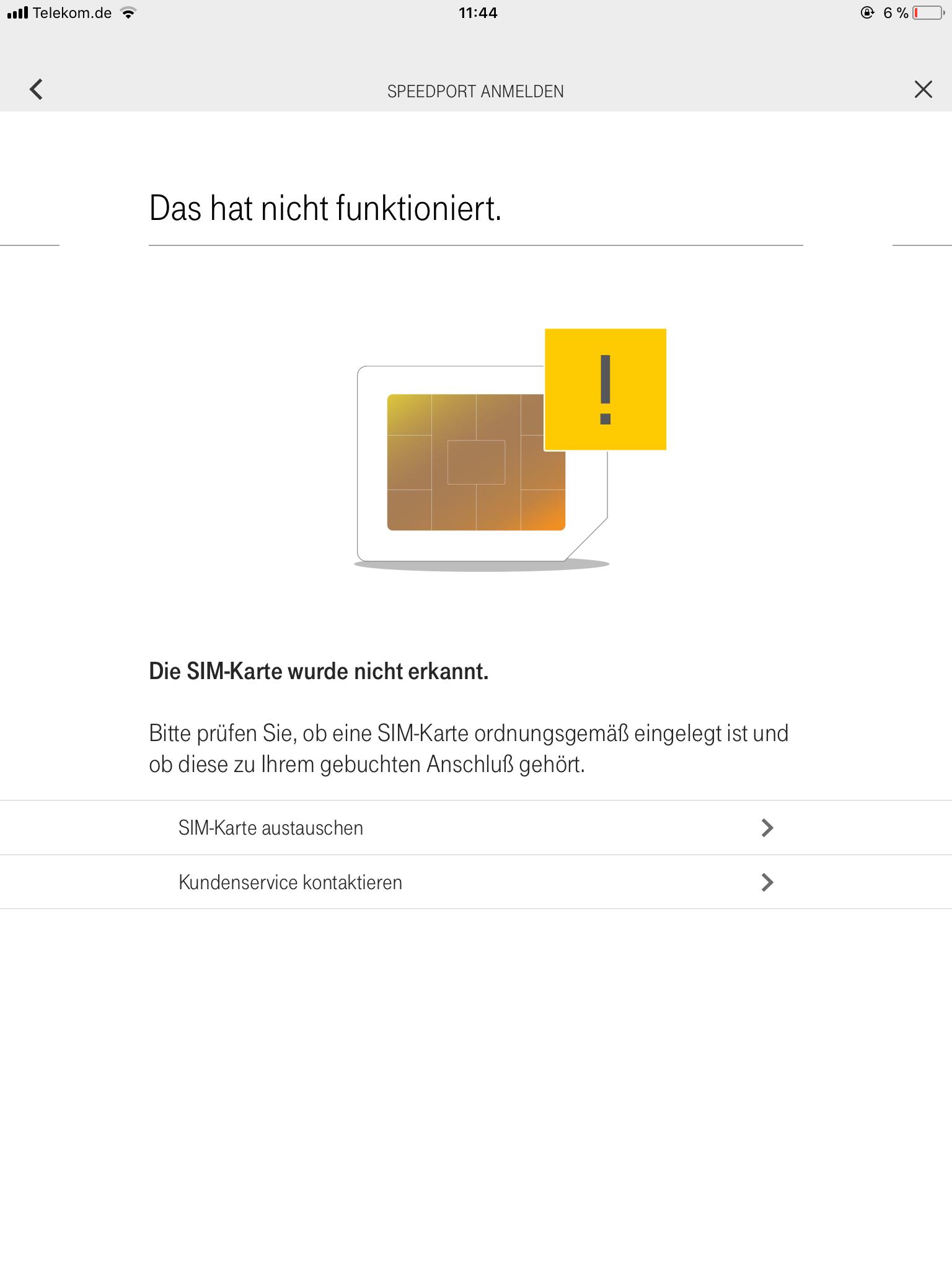Sim Karte Nicht Erkannt.Gelöst Sim Karte Wird Vom Speedport Hybrid Nicht Erkannt Telekom