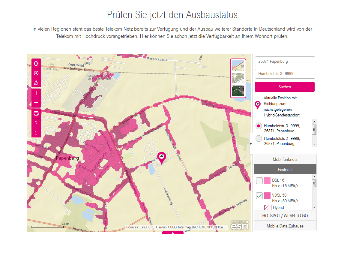 telekom breitbandausbau karte Gelöst: Community | Breitbandausbau Papenburg | Telekom hilft