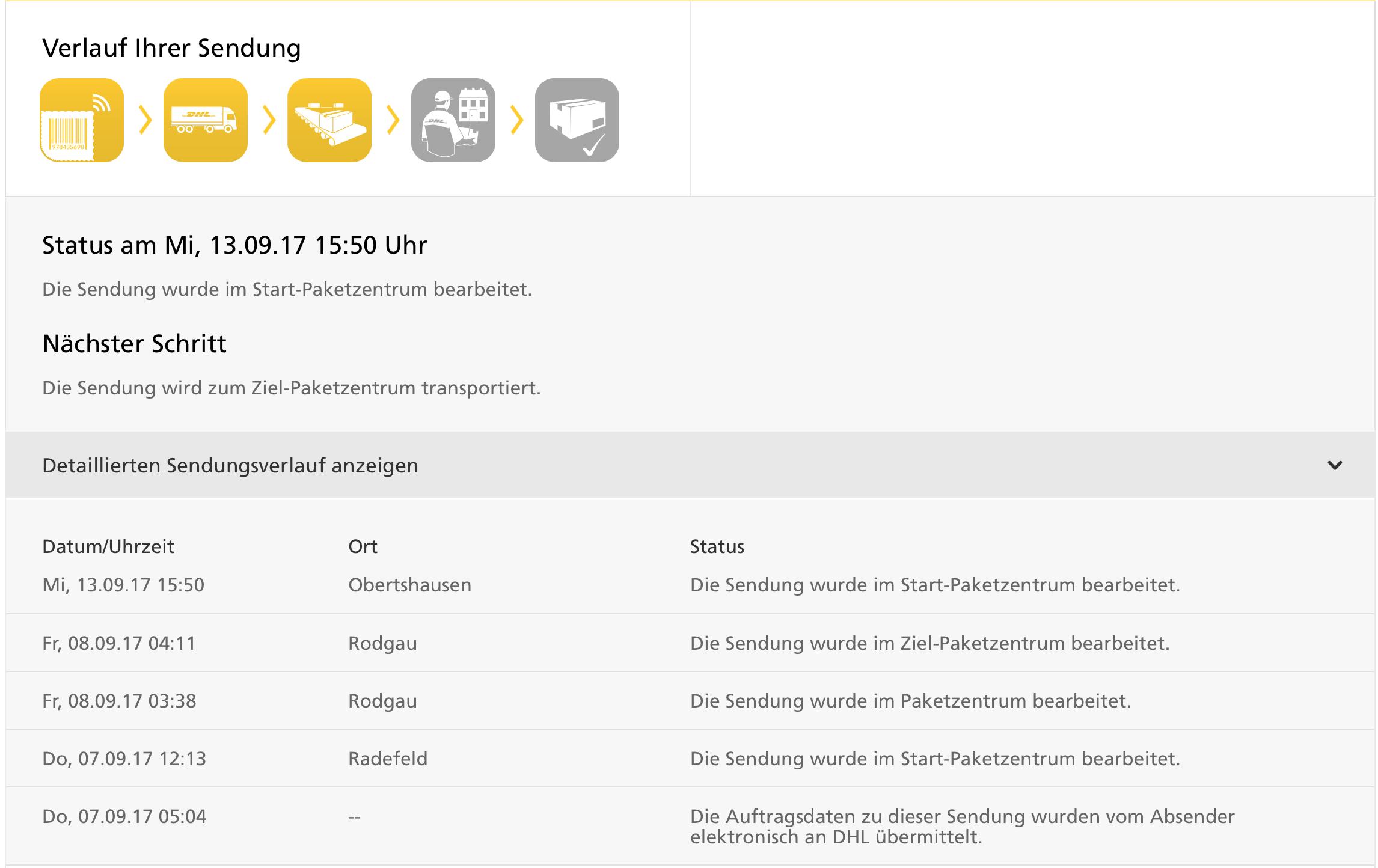 Community Dhl Paket Steckt Im Ziel Paketzentrum Fest Telekom