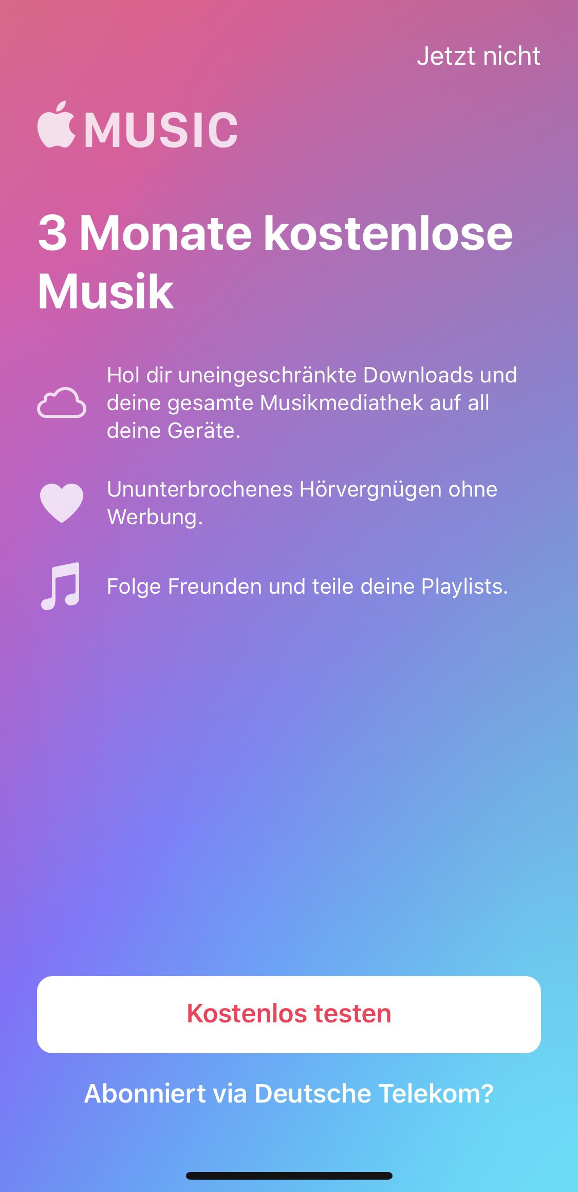 Gelöst: Apple Music Try& Buy: Aktivierung nach erfolgreich
