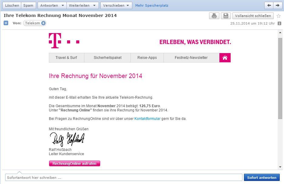 Gelöst Community Spam Betrug Email Erhalten Telekom Hilft