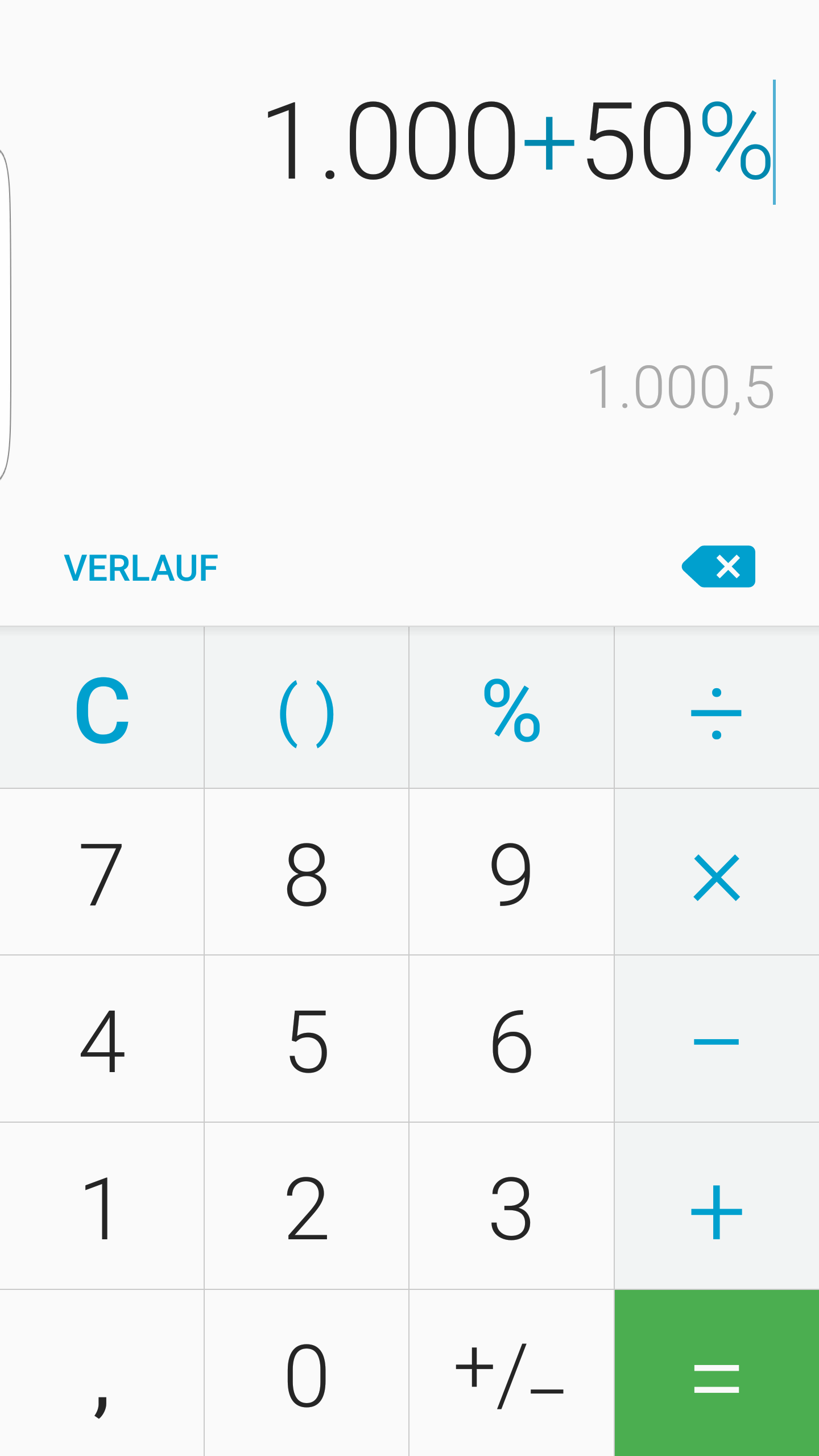 samsung s6: nach android 6.0 (m) update rechnet der taschenrechner