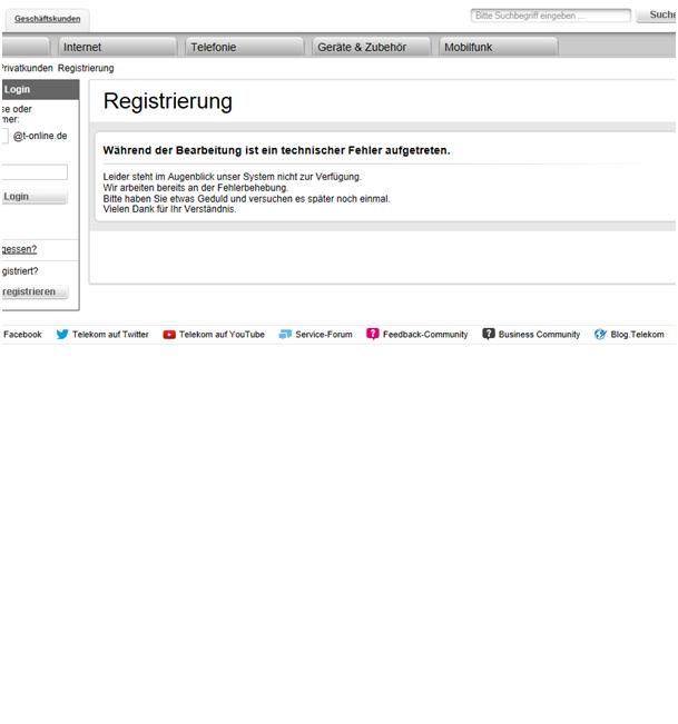 Telekom Kundencenter Registrieren