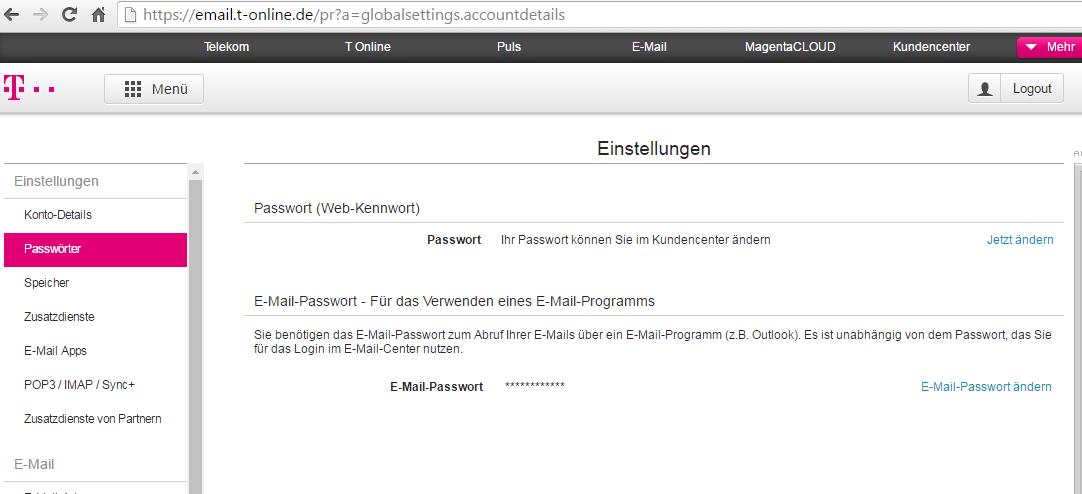 TDS Fehler bei E-Mail-Passwortänderung   Telekom hilft