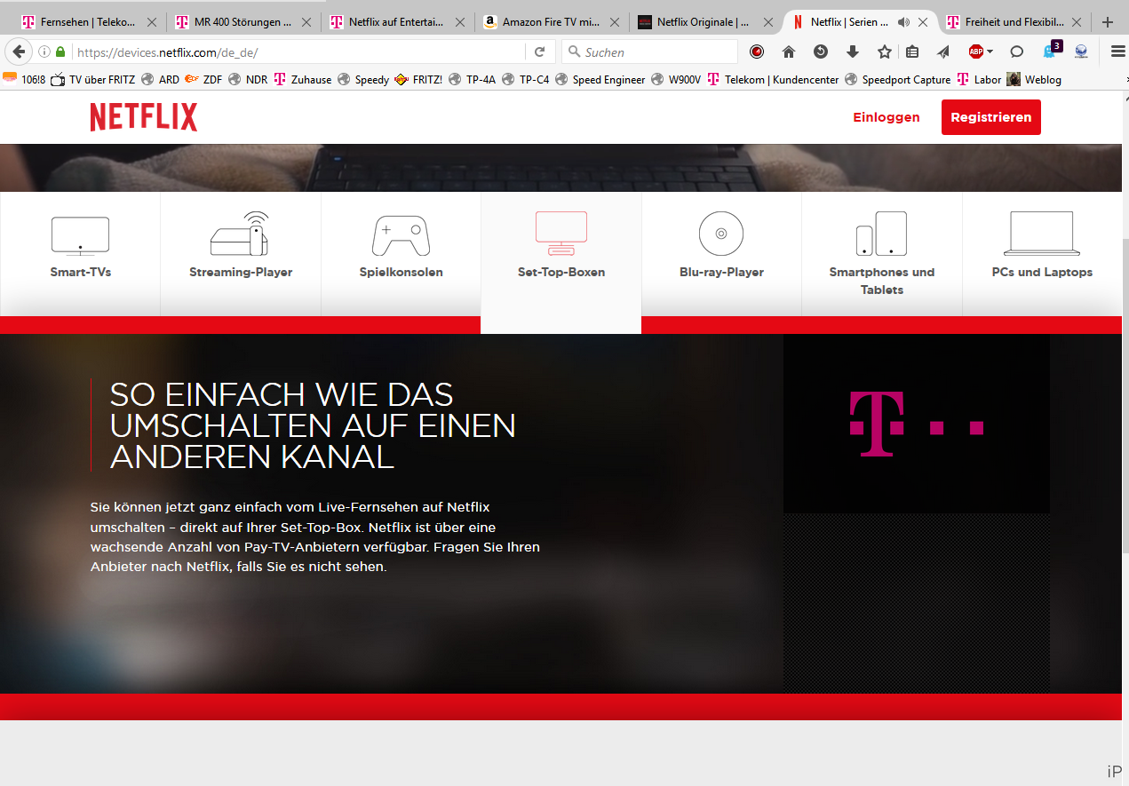 Netflix Telekom Receiver