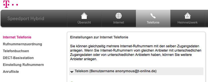 Telefonnummer Störstelle Telekom