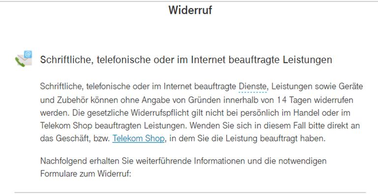 Telekom Auftrag Stornieren