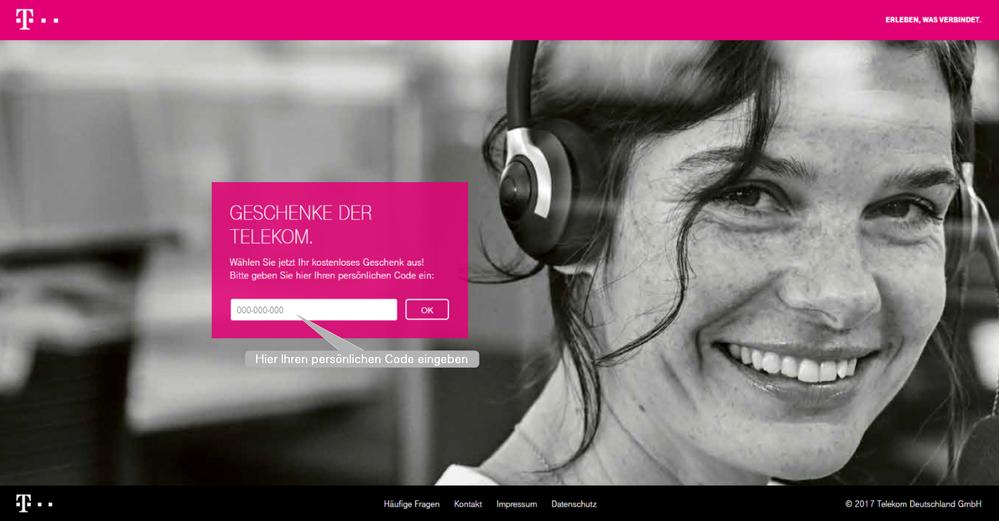 Www.Telekom.De/Tut-Uns-Leid Geschenk-Code