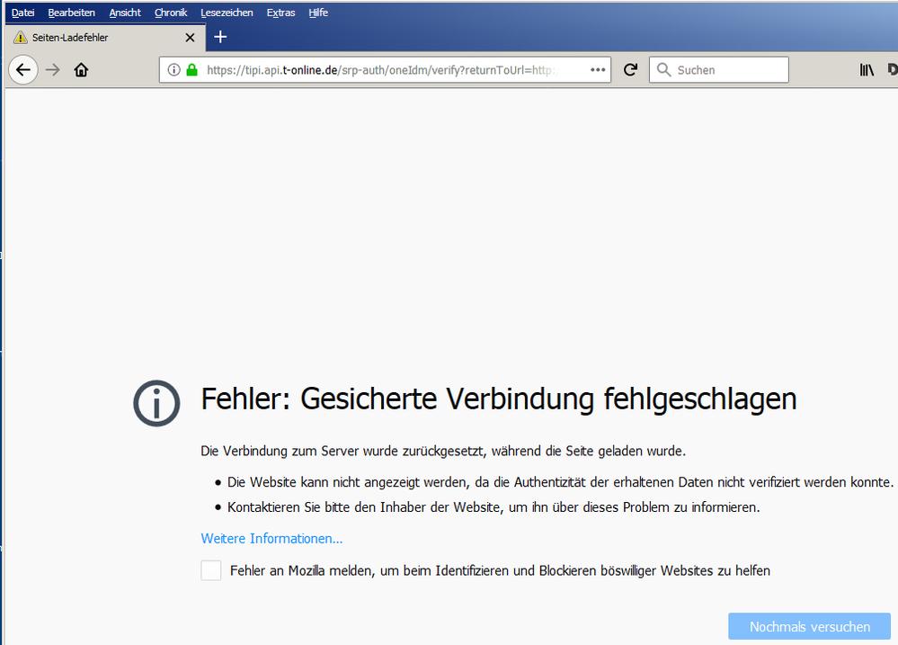 Gelöst: Fehler bei der Anmeldung an das E-Mail-Center