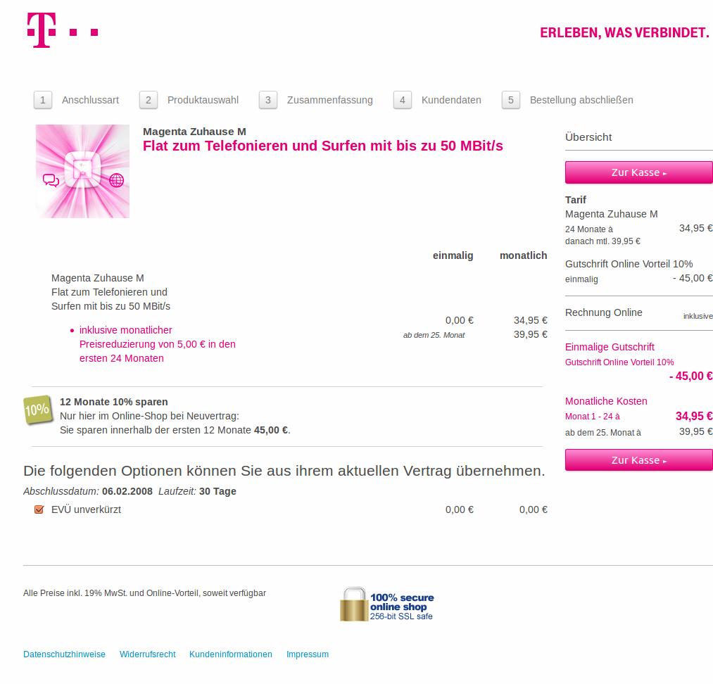 Telekom Magenta Zuhause Xs