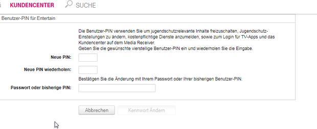 Benutzer Pin Telekom