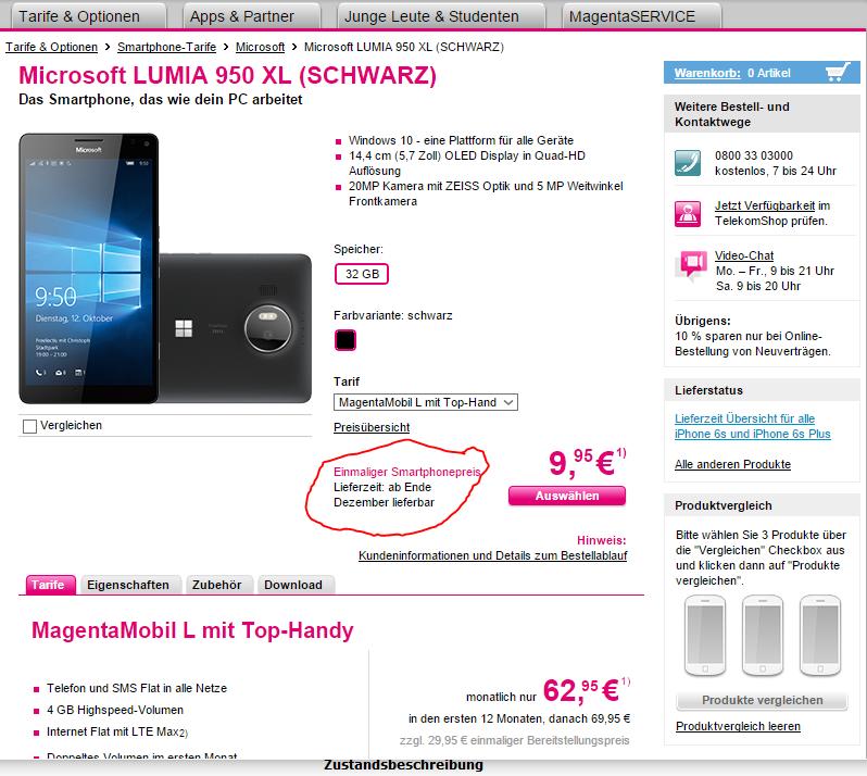 Telekom Handy Rechnung Einsehen : gel st verf gbarkeit microsoft lumia 950 xl und 950 seite 89 telekom hilft community ~ Themetempest.com Abrechnung