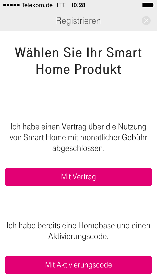 kein login mit smart home app m glich telekom hilft. Black Bedroom Furniture Sets. Home Design Ideas