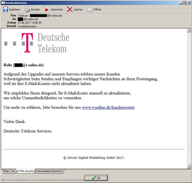 gel st fyi mails mit telekom als absender telekom. Black Bedroom Furniture Sets. Home Design Ideas