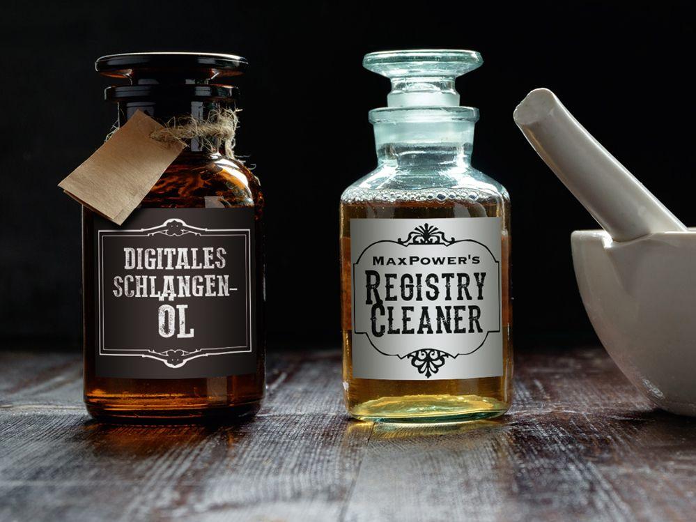 Digitales Schlangenöl – Registry Cleaner als Performance-Allheilmittel
