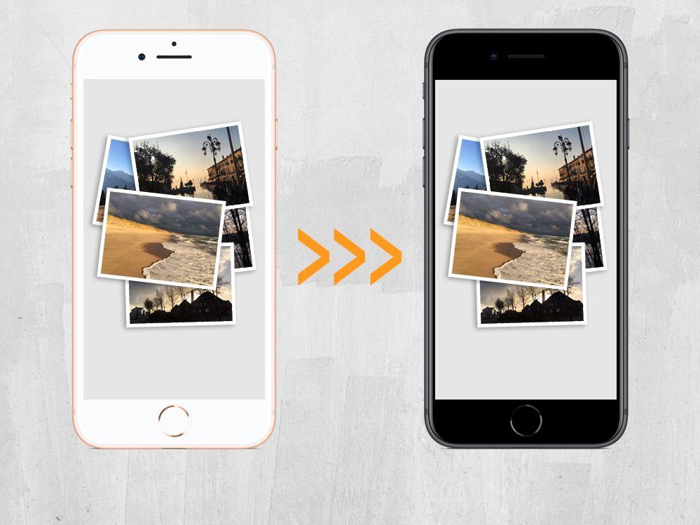 Fotos zwischen iPhones übertragen