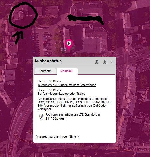 Lte Masten Karte.Gelöst Wo Ist Der Lte Mast Mit Dem Ich Verbunden Bin Telekom