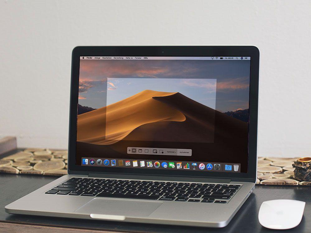 Wie kann ich Screenshots mit einem Mac anfertigen?